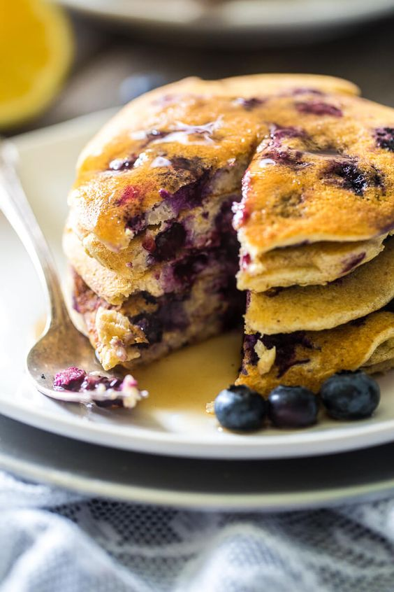 Gluten free pancakes, Pancakes and Blueberries on Pinterest