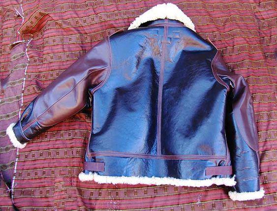 B-3 Sheepskin Leather Flight Jacket Motorcycle Clothing