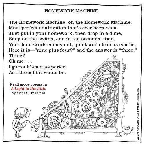 The homework machine shel silverstein