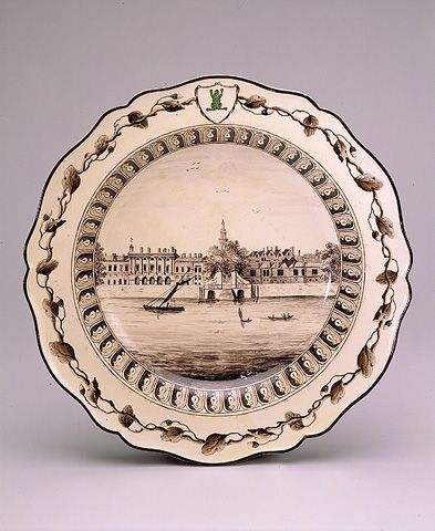 Plate With A View Of Somerset House Piece From The