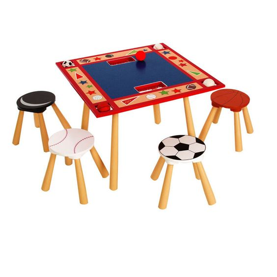 All Star Sports Table 4 Stool Set from Levels of Discovery - Kids Table and Chair Set