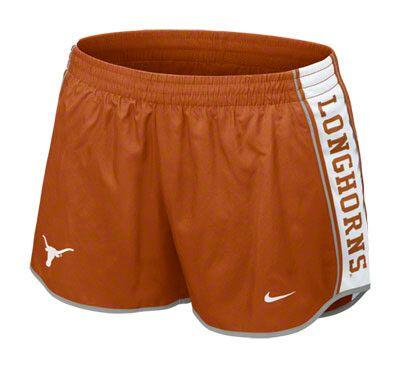 Texas Longhorns Women's Orange Nike Pacer Shorts
