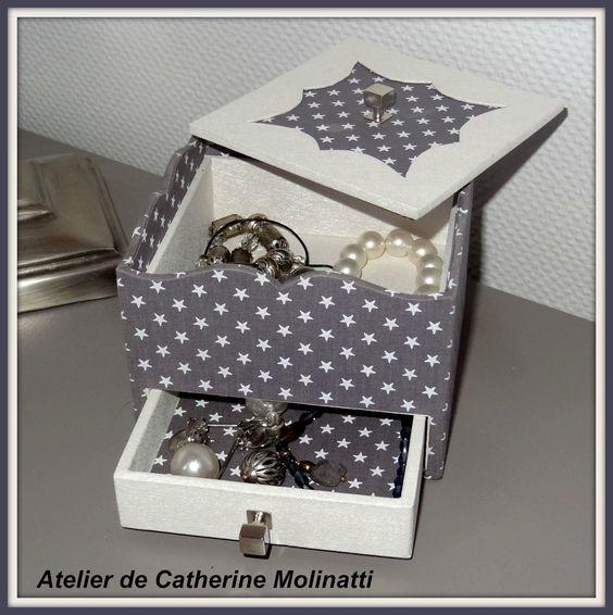 ma petite boite bijoux de chevet cartonnage pinterest bijoux. Black Bedroom Furniture Sets. Home Design Ideas