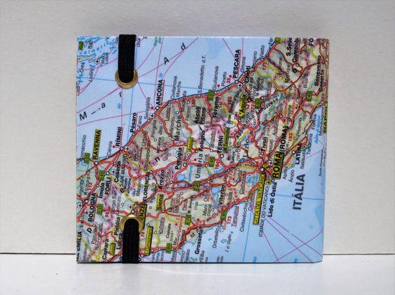 Upcyled Paper Wallet | Maps | Bifold | Slim | Vegan by CartelCarteiras