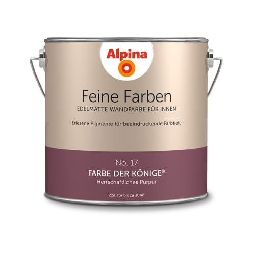 Alpina Wandfarbe Feine Farben No 17 Farbe Der Konige Purpur 2 5 L ǀ Toom Baumarkt In 2020 Feine Farben Wandfarbe Alpina Farben