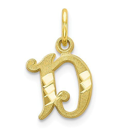 10k Yellow Gold Initial Monogram Name Letter D Pendant Charm Necklace Fine Jewelry Gifts F Gold Initial Fine Jewelry Gift Fine Jewelry