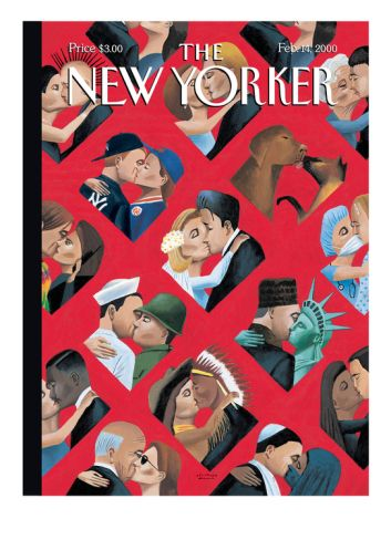 The New Yorker Cover - February 14, 2000 Giclee Print by Mark Ulriksen at Art.com