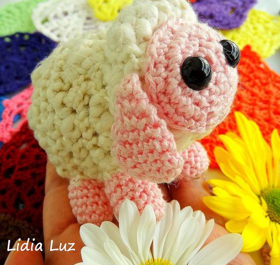 Ovelhinha, amigurumi de crochê | Flickr: Intercambio de fotos