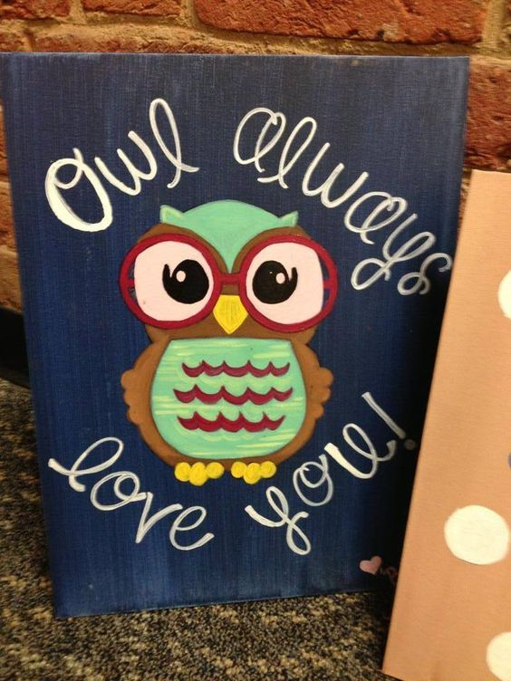 Big Lil  #DIY #Craft #Owls: