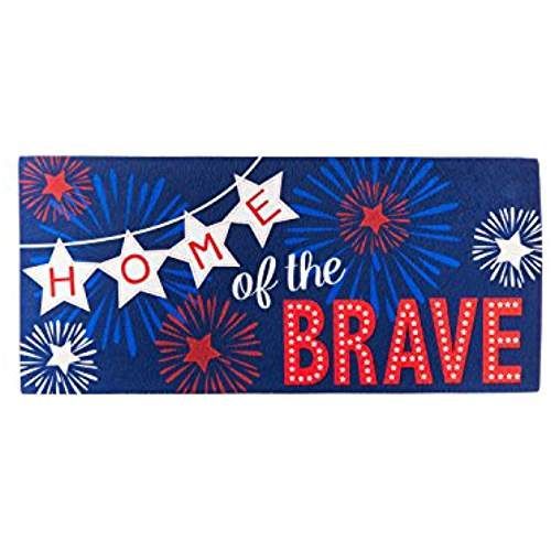 Evergreen Home Of The Brave Sassafrass Decorative Mat Insert 10 X 22 Inches Door Mat Decor Kids Rugs