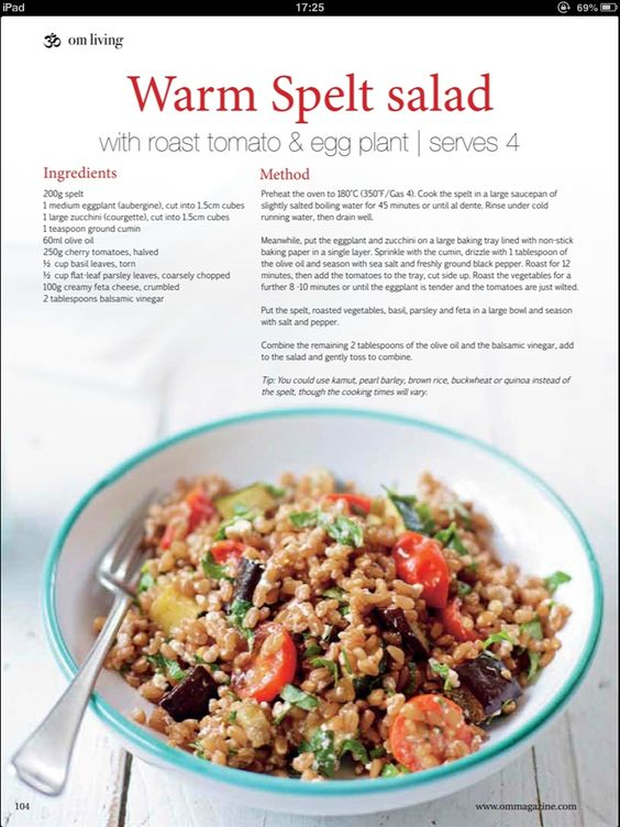 Warm Spelt Salad | Food | Pinterest | Warm and Salads