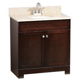 "Lowe's ESTATE by RSI 31"" Java Broadway Bath Vanity with Top"