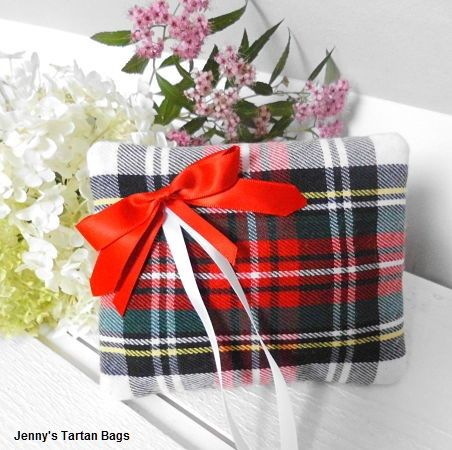 Wedding ring cushion by Jenny's Tartan Bags
