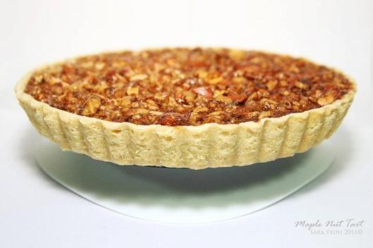 Maple nut tart