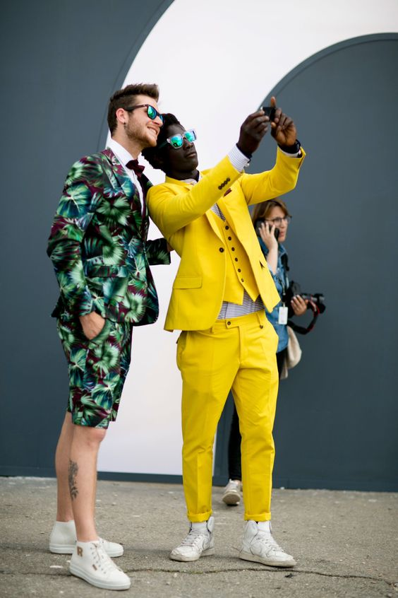 Image result for men in yellow spring 2017 street style