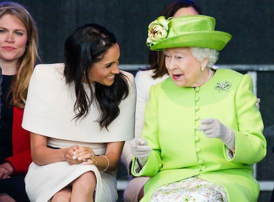 The Queen Can T Stop Smiling All The Photos That Reveal How Much She Likes Meghan Markle Memes Funny Queen Elizabeth
