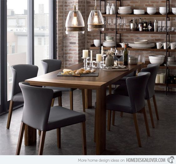 Grandes comedores, muebles and crate and barrel on pinterest