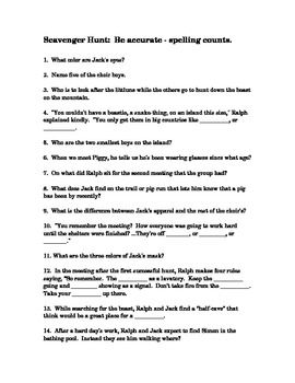 Lord of the Flies Common Core Standards-Based Teaching Materials ...