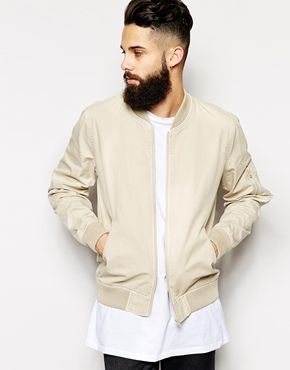 Stone coloured bomber jacket – Your jacket photo blog