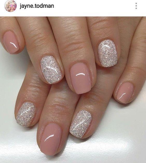 Pinterest Glitter Gel Nails Glitter Gel Nail Designs Short Gel