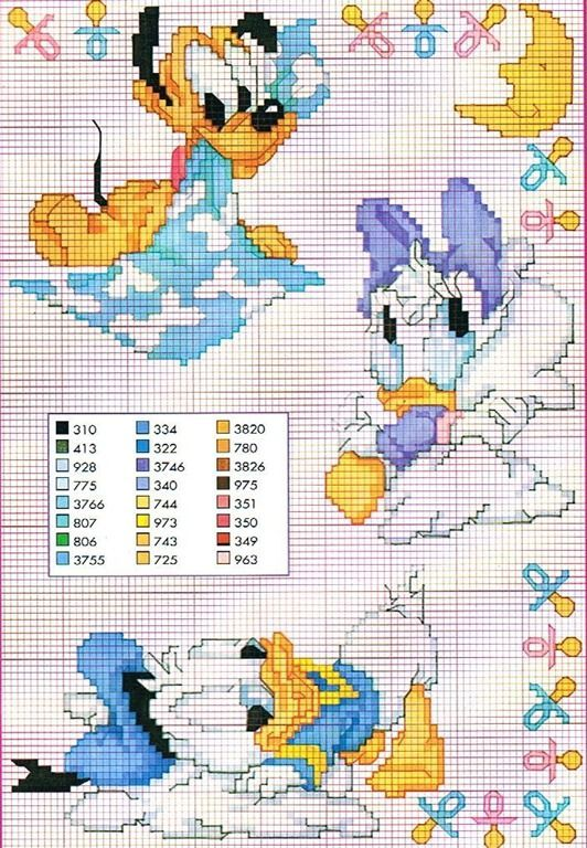Disegni Per Neonati A Punto Croce Disney вышивка