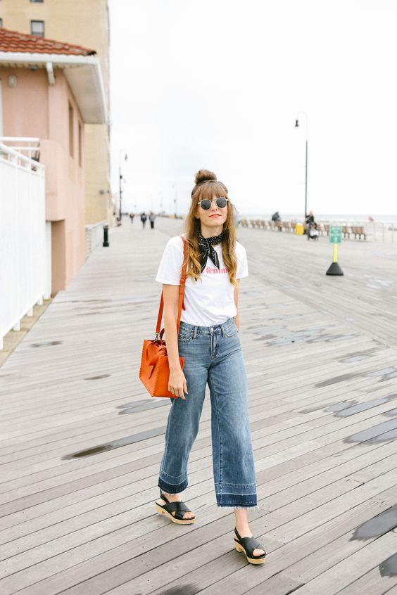 gap wide leg jeans, wide leg jeans, la femme sezane
