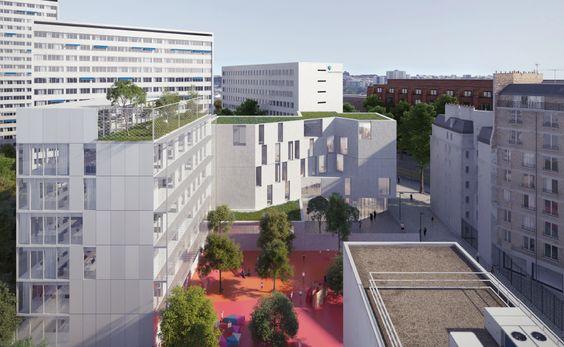Conservatoire de musique et bureaux à Paris 14e - études en cours - Bruno Mader #batiserf #architecture
