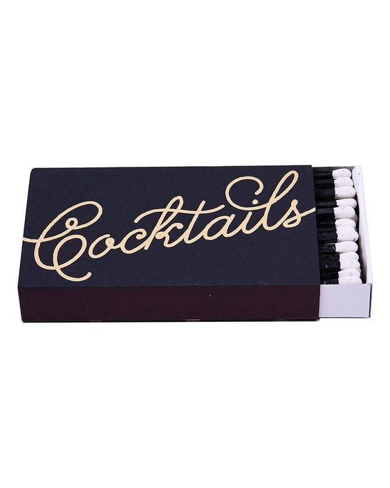 Cocktails Matchbox - Hattan Home - 1