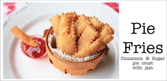 Pie Fries? What are they? That's jam and not ketchup with these cute pie crust treats.  RECIPE