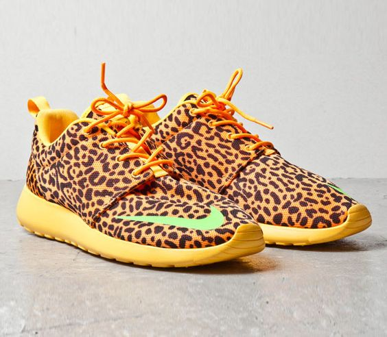 leopard print roshe runs