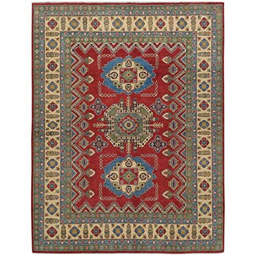 Super Kazak Red Geometric Oriental Wool Area Rug 8x10 Hand Knotted Carpet For Dining Room 7 8 X 9 10 In 2020 Wool Area Rugs 8x10 Area Rugs Knotted Carpet