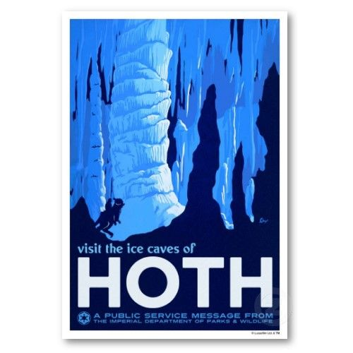 """A cold Star Wars vacation! """"Visit the Ice Caves of Hoth"""""""