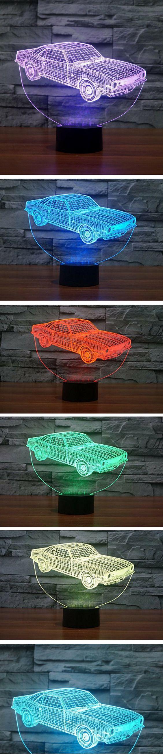 Autozimmer Cooles 3d Nachtlicht Im Auto Design Diese Design Lampe Ist Ein Echter Hingucker Leuchtet In Verschiedenen Farben Kinder Lampen Led Lampe Kinder