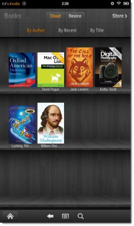 "Make e-books show up under ""Books"" on the Kindle Fire."