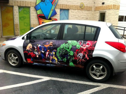 Marvel Comics Themed Custom Vinyl Vehicle Wrap By Big Star - Vinyl custom