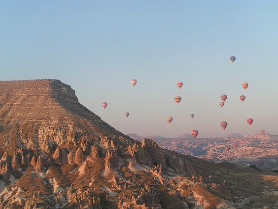 Balloon Armada over Cappadoccia by Matthew Tulett, via Flickr