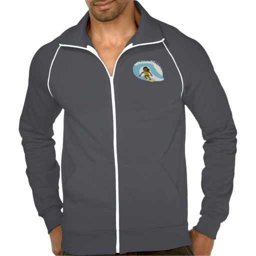 Surfing guy cartoon jacket