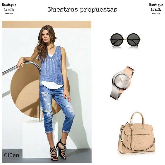 Así se lleva el denim...Look perfecto de nuestra firma Glüen. #comodidad #vaquero #jeans #calvinklein #louisevuitton