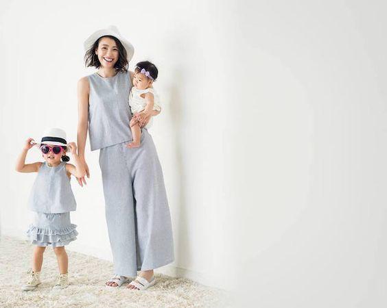 木下優樹菜子供二人とお洒落でかわいい衣装披露する画像