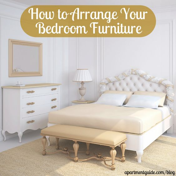 Arranging furniture bedroom furniture and furniture on for Furniture you put together