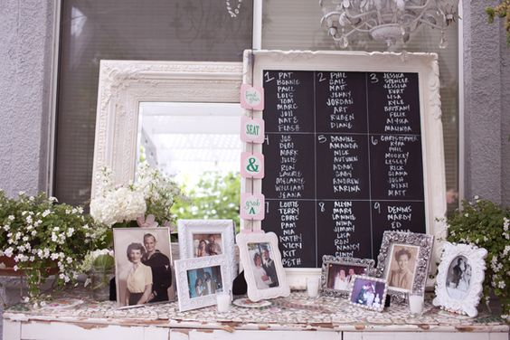 Un seating plan original para tu boda