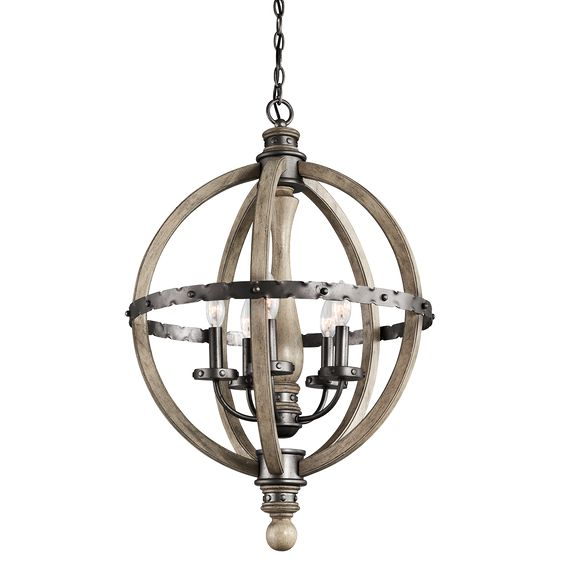 Have searched for lighting of this kind for years that costs less then $2,000...and here it is! Evan 5 Light Chandelier - Distressed Antique Gray