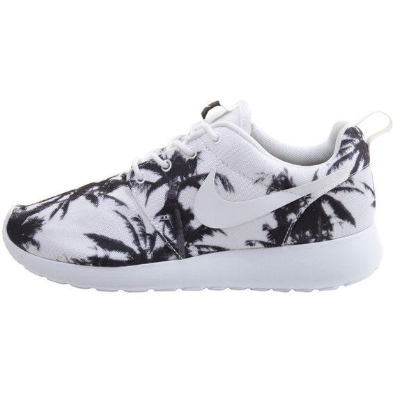 Nike Roshe Run White Black Palm Print Exclusive