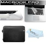 "Macbook Pro 13"" Protection Bundle Kit Includes Incase Neoprene Sleeve for 13"" MacBook Pro (Black) + Moshi PalmGuard for Macbook Pro 13"" + Moshi ClearGuard for MacBook Pro 13"" + BONUS Butterfly Photo Microfiber Cleaning Cloth (Electronics) newly tagged ""apple"""