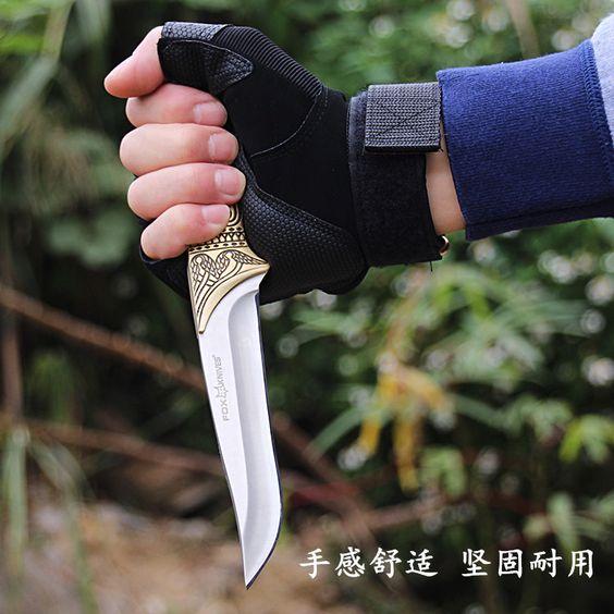 Подлинная фокс черная мамба сабля тактический нож выживания в джунглях инструмент небольшой открытый самооборона ножкупить в магазине China kinfe king group co., LTDнаAliExpress