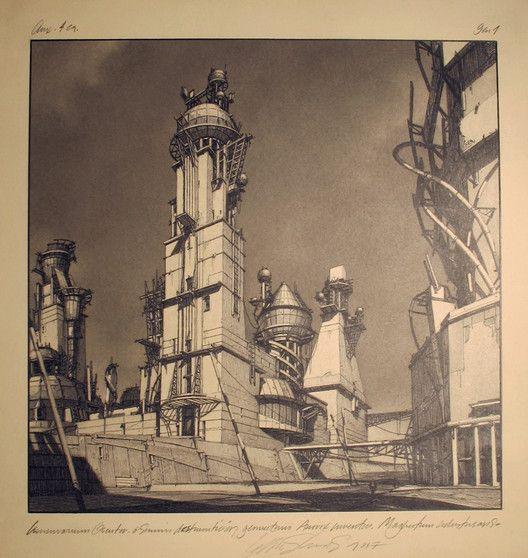 Lebbeus Woods: Early Drawings on Exhibit in NYC,© Lebbeus Woods | Courtesy of Friedman Benda Gallery