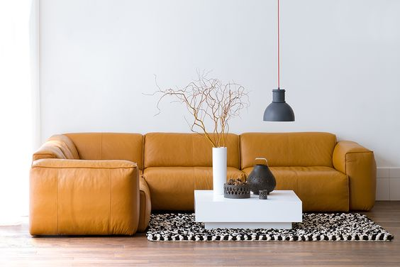 Geweldige Leren Hoekbank In Cognac Kleur  Makeithome.nl   Mermaid    Pinterest   Banks, Interior Architecture And Interiors