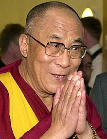 """If only our own leaders in the US would talk about peace, promote peace, and pay attention to smarter and more sustainable philosophical ideas (such as """"Do no harm""""), what a fricking world we might have. Blessings to HH The Dalai Lama for even being IN the world, as an example."""
