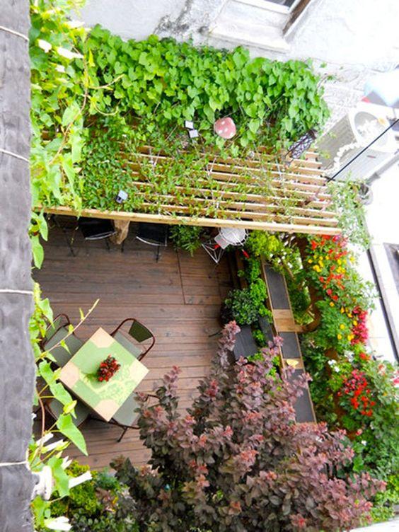 toit-fleuri-2  Balcon Terrasse  Pinterest  Chic