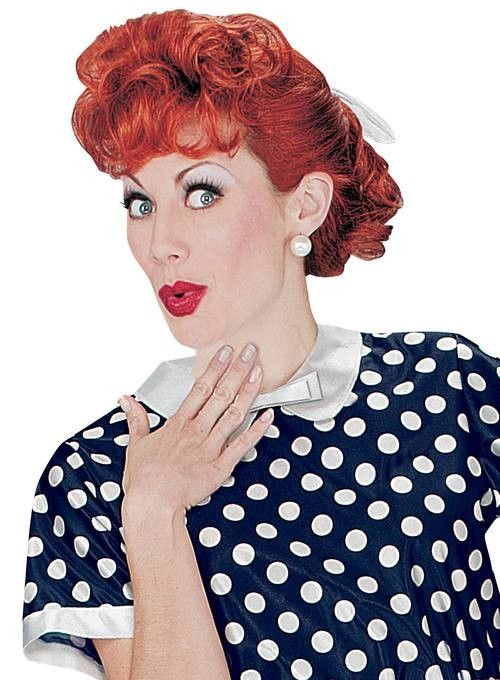 Ladies Licensed I Love Lucy 50s Housewife Costume Wig
